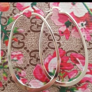 Jewelry - 925 Sterling Silver Round Hoop Earrings